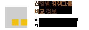 산업별 경쟁그룹 비교 정보